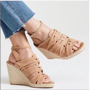Sam Edelman Awan Suede Espadrilles Wedge Sandals